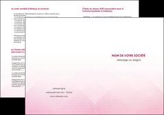 personnaliser maquette depliant 2 volets  4 pages  rose rose tendre fond en rose MLGI70245