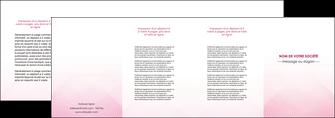 exemple depliant 4 volets  8 pages  rose rose tendre fond en rose MLGI70247