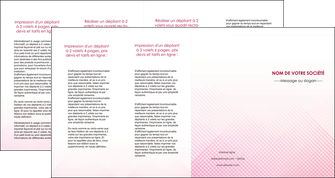 realiser depliant 4 volets  8 pages  rose rose tendre fond en rose MLGI70251