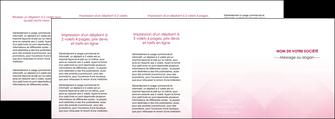 faire depliant 4 volets  8 pages  rose rose tendre fond en rose MLGI70253