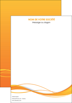 creer modele en ligne affiche orange couleur couleurs MIF70381