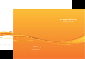 faire pochette a rabat orange couleur couleurs MIF70391