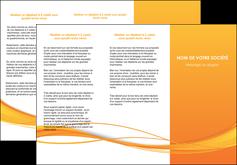 exemple depliant 3 volets  6 pages  orange couleur couleurs MIF70405