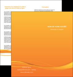 impression depliant 2 volets  4 pages  orange couleur couleurs MIF70407