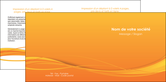 modele depliant 2 volets  4 pages  orange couleur couleurs MIF70409