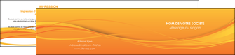 impression depliant 2 volets  4 pages  orange couleur couleurs MIF70415