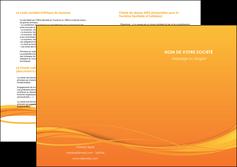 creation graphique en ligne depliant 2 volets  4 pages  orange couleur couleurs MIF70419