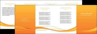personnaliser maquette depliant 4 volets  8 pages  orange couleur couleurs MIF70421