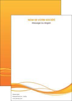 personnaliser maquette affiche orange couleur couleurs MIF70423