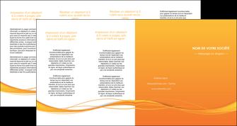 imprimerie depliant 4 volets  8 pages  orange couleur couleurs MIF70425