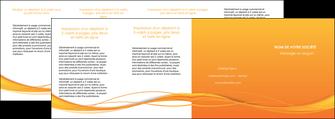 realiser depliant 4 volets  8 pages  orange couleur couleurs MIF70427