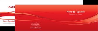 imprimer carte de visite rouge couleur couleurs MIF70491