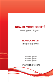 exemple carte de visite rouge couleur couleurs MIF70493
