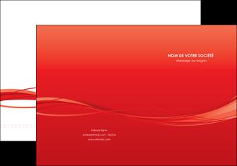 maquette en ligne a personnaliser pochette a rabat rouge couleur couleurs MIF70495