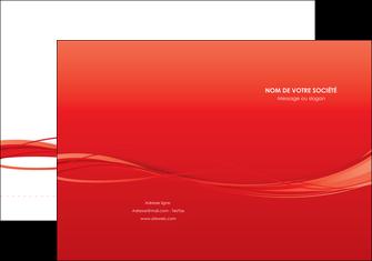 impression pochette a rabat rouge couleur couleurs MIF70497