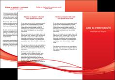 creer modele en ligne depliant 3 volets  6 pages  rouge couleur couleurs MIF70509