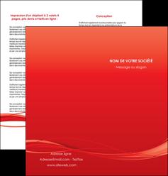 personnaliser modele de depliant 2 volets  4 pages  rouge couleur couleurs MIF70511