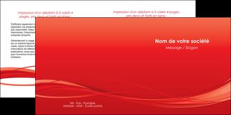 maquette en ligne a personnaliser depliant 2 volets  4 pages  rouge couleur couleurs MIF70513