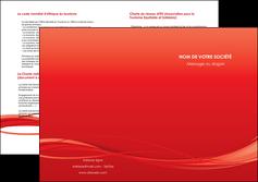 cree depliant 2 volets  4 pages  rouge couleur couleurs MIF70523