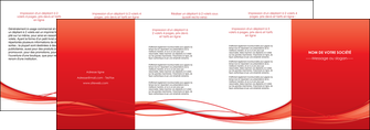 exemple depliant 4 volets  8 pages  rouge couleur couleurs MIF70525