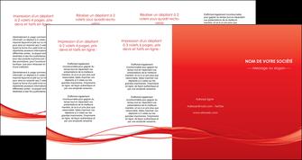 personnaliser modele de depliant 4 volets  8 pages  rouge couleur couleurs MIF70529