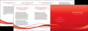 imprimerie depliant 4 volets  8 pages  rouge couleur couleurs MIF70531