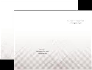 personnaliser maquette pochette a rabat gris simple sobre MLGI70711