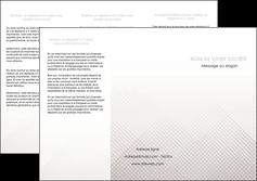 faire depliant 3 volets  6 pages  gris simple sobre MLGI70725