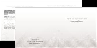 faire depliant 2 volets  4 pages  gris simple sobre MLGI70729