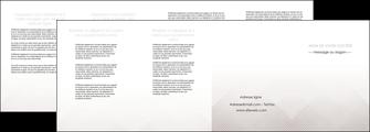 modele depliant 4 volets  8 pages  gris simple sobre MLGI70743