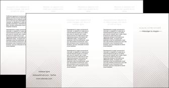 personnaliser maquette depliant 4 volets  8 pages  gris simple sobre MLGI70747