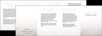 creer modele en ligne depliant 4 volets  8 pages  gris simple sobre MLGI70749