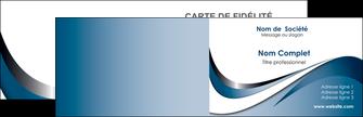 impression carte de visite web design bleu fond bleu couleurs pastels MIF70821