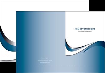 imprimer pochette a rabat web design bleu fond bleu couleurs pastels MIF70827