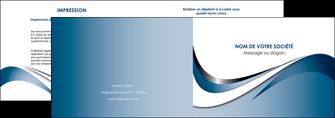 personnaliser maquette depliant 2 volets  4 pages  web design bleu fond bleu couleurs pastels MIF70829