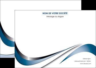 personnaliser modele de affiche web design bleu fond bleu couleurs pastels MIF70833
