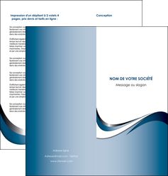 imprimer depliant 2 volets  4 pages  web design bleu fond bleu couleurs pastels MIF70841