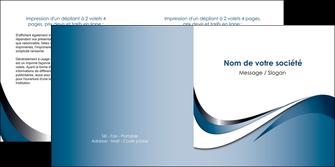 imprimer depliant 2 volets  4 pages  web design bleu fond bleu couleurs pastels MLGI70843