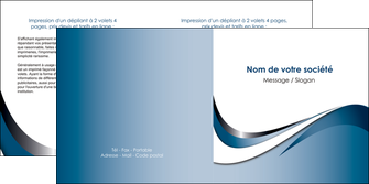 imprimer depliant 2 volets  4 pages  web design bleu fond bleu couleurs pastels MIF70843