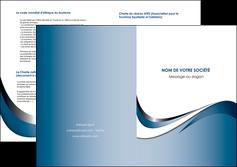 faire modele a imprimer depliant 2 volets  4 pages  web design bleu fond bleu couleurs pastels MIF70853