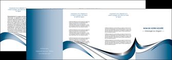 impression depliant 4 volets  8 pages  web design bleu fond bleu couleurs pastels MIF70855