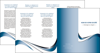 modele depliant 4 volets  8 pages  web design bleu fond bleu couleurs pastels MIF70859