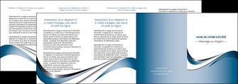 impression depliant 4 volets  8 pages  web design bleu fond bleu couleurs pastels MIF70861