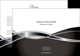 personnaliser maquette set de table web design noir fond gris simple MIS70969