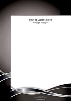 realiser affiche web design noir fond gris simple MIS70971