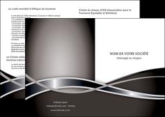 modele depliant 2 volets  4 pages  web design noir fond gris simple MIS70975