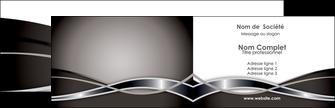 exemple carte de visite web design noir fond gris simple MIS70977