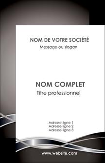 personnaliser maquette carte de visite web design noir fond gris simple MLGI70979