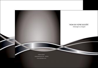 personnaliser maquette pochette a rabat web design noir fond gris simple MLGI70981