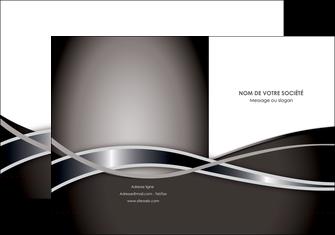 creation graphique en ligne pochette a rabat web design noir fond gris simple MIS70983